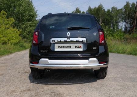 Renault Duster 2015 Защита задняя (овальная длинная) 75х42 мм